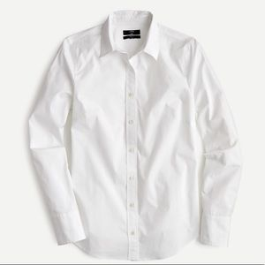 J crew slim stretch perfect shirt white buttons